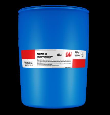 Жидкая добавка в бетон АСОКА ГИ ДЭ для гидроизоляции бетона, гидроизоляционная добавка для водонепроницаемости бетона