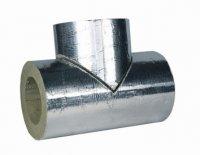 Минераловатные цилиндры Xotpipe SP Outside  (Хотпайп),  теплоизоляционные цилиндры c отражающим защитным покрытием,  для теплоизоляции труб и трубопроводов