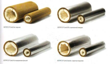 Минераловатные цилиндры Xotpipe SP Combi  (Хотпайп),  высокотемпературная изоляция  для теплоизоляции труб и трубопроводов с температурой применения до +950 градусов!