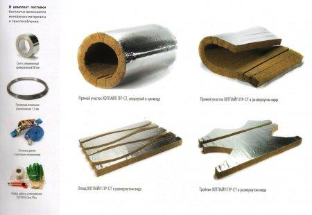 Маты теплоизоляционные Хотпайп ПР-СТ (аналог изоляции СТУ-Ф) для теплоизоляции промышленных трубопроводов