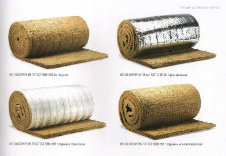 Маты прошивные МП 100 Хotpipe,  маты базальтовые прошивные для теплоизоляции труб, трубопроводов, воздуховодов и резервуаров